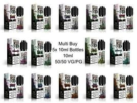 Double Drip 10ml Eliquid x5 10ml Bottles, 50-50 VG-PG All Flavours 3,6,12,18mg