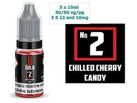 3x 10ml UBLO NUMBERS E LIQUID 10ml 50-50 3- 6-12-16 Chilled Cherry candy (2)