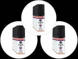 3x Vype 10ml E-Liquid Dark Cherry 6mg 12mg or 18mg 50-50 Blend