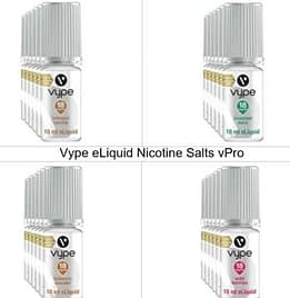 VYPE E-LIQUID 10ml Bottles VPRO RANGE 18MG LIQUID NIC SALTS Four Flavours