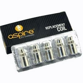 Aspire BVC Coils, 1.8 ohm. Pack of 5