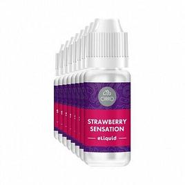 Cirro E-Liquid Strawberry Sensation 10ml x 4 bottles – 50-50 pg-vg 11 mg