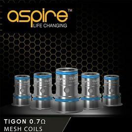 Aspire Tigon Mesh Coils Replacement Atomizer 0.7 ohm Pack of 5