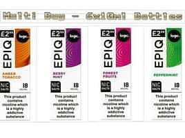 6x 10ml Multi Pack Logic EPIQ e-Liquid Nic Salt, 4 flavours 18mg