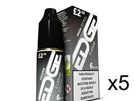 5x 10ml Edge E-Liquid Heizen 3mg 6mg 12mg 18mg