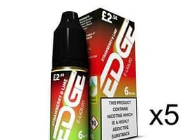 5x 10ml Edge E-Liquid Strawberry and Lime 3mg 6mg 12mg 18mg