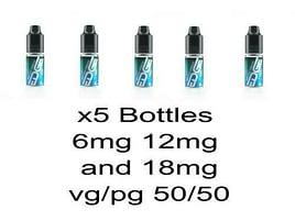 5x 10ml Edge E-Liquid Menthol Tobacco 6mg 12mg 18mg