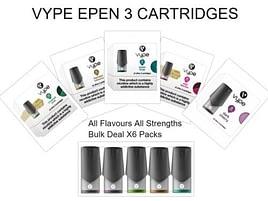 VYPE EPEN 3 CARTRIDGES Bulk Deal X6 Packs