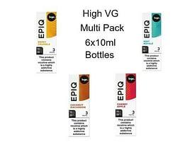 6x 10ml Multi Pack Logic EPIQ e-Liquid High VG, 4 flavours 3mg 70-30 VG-PG