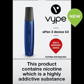 Vype Epen3 Kit , Cartridges Not Included, Just Kit , New and Improved Blue
